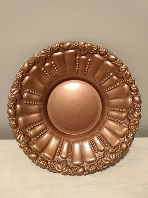Bronze painted metal platter/decoration/ for Sale in Fairfax, VA