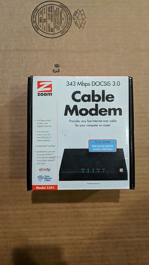 Zoom Docsis 3.0 Modem - Good for Comcast up to 300 Mbps for Sale in Portland, OR