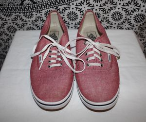 AUTHENTIC LO PRO VANS SKATE SHOES RED/PINK 8.5 MENS / 10 WOMENS -OFF THE WALL for Sale in Glendale, CA