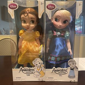 Disney Baby Toddler Belle Animators Collection Doll Gold Dress for Sale in Alexandria, VA