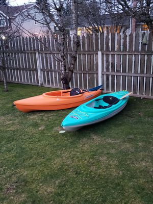 2 kayaks with paddles for Sale in Bothell, WA