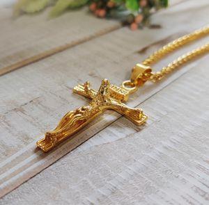 Men's Gold Cross Necklace for Sale in Wichita, KS