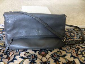 Grey Leather Kate Spade Messenger Bag for Sale in Irvine, CA