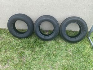 Trailer tires over 50% tread 3 tires 75$ for all 3 for Sale in Fort Lauderdale, FL