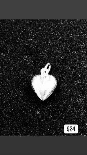 Silver Heart Charm / Pendant for Sale in Long Beach, CA