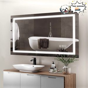 40x24 Inch LED Bathroom Mirror, Horizontal/Vertical Anti-Fog Bathroom Mirrors for Wall for Sale in Los Angeles, CA