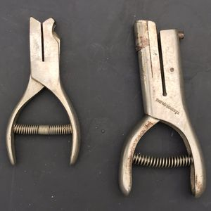 "2 VTG‼ McGill Utility Punch - Railroad Conductor Ticket Punch. 5.5"" & 5"" in length. Price for the pair, hole sizes approximately 5 & 6 mm for Sale in Bradenton, FL"