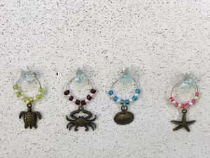 Sea Life Wine Glass Charms for Sale in Palm Harbor, FL