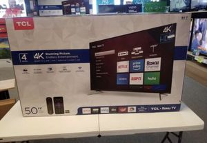 """50"""" TcL roku smart 4k Led uhd hdr tv for Sale in Fontana, CA"""