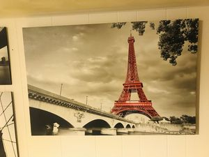 Beautiful Eiffel Tower Paris Framed Canvas Art 2x3 ft for Sale in Kensington, MD
