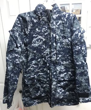 Winter is here- stay warm - US Navy Digital blue Gore Tex parka for Sale in Bradenton, FL