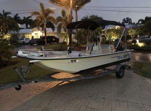19' Carolina Skiff flats boat 60Hp Yamaha for Sale in Fort Lauderdale, FL