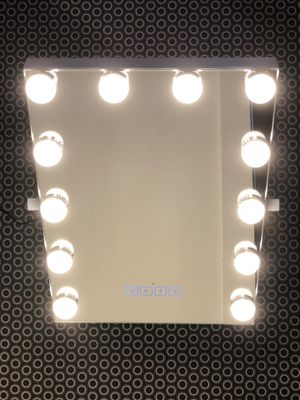 🔥 VANITY MIRRORS WITH LED LIGHTS - BUILT-IN BLUETOOTH, 3 LIGHTING TOUCH CONTROL, 30' X 40', FOGLESS - HOLLYWOOD LIGHTED MAKEUP MIRROR - WHITE for Sale in Los Angeles, CA