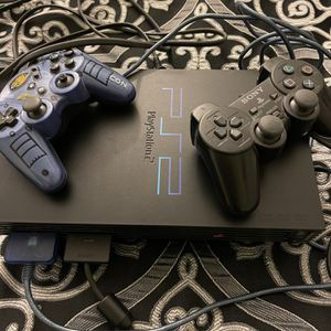 PS 2, Two Controllers ,all Cords,Two Guitars, Many Games for Sale in Orange, CA