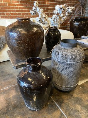Antique black jar , clay pots from China for Sale in Los Angeles, CA