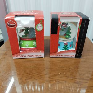 2 Snow Globe Musical Mickey Mouse. Disney for Sale in Roseville, CA