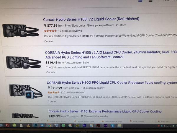 Corsair H100i v2 liquid cpu cooler new for Sale in Los Gatos, CA - OfferUp