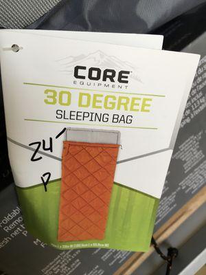 (Please read description)Core 30 degree sleeping bag for Sale in Kingsburg, CA