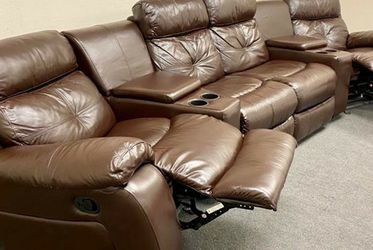 Top Grain Leather SOFA COUCH RECLINER SECTIONAL . for Sale in Frisco,  TX