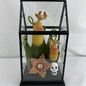 Hyde & Eek Boutique Yellow Halloween Faux Creepy Plants Terrarium TARGET ON HAND for Sale in Peoria, IL