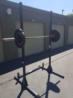 Cap strength rack , Olympic weights and Olympic bar for Sale in El Dorado Hills, CA