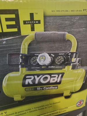 RYOBI 18V CORDLESS AIR COMPRESSOR BRAND NEW TOOL ONLY for Sale in San Bernardino, CA