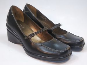 ROCKPORT Women's Shoes Black Leather Mary Jane Wedge Heels Size US 8M Msrp $100 for Sale in Hayward, CA