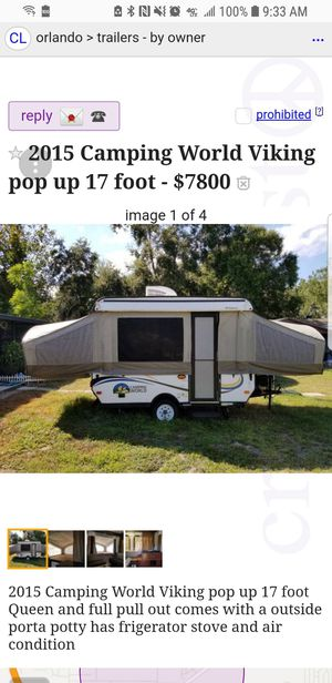 2017 Viking pop up need to sell this weekend for Sale in Cocoa, FL