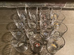 Set of 15 High Roller cocktail glasses for Sale in Oswego, IL