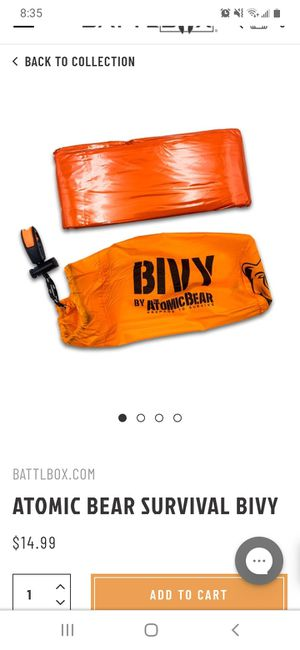 Sleeping Bag (BIVY by Atomic Bear) for Sale in Fullerton, CA
