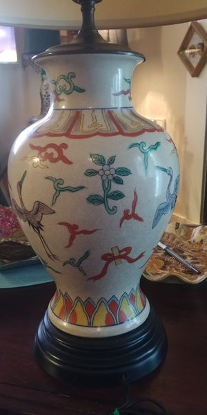 Vintage hand painted Japanese lamp for Sale in Midlothian, VA