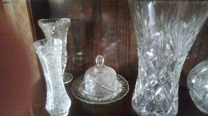 Antique crystal leaded glass variety of different pieces serving sets for Sale in Portland, OR