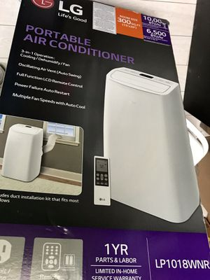 Portable air conditioner, LG, 10.000 BTU for Sale in Hollywood, CA