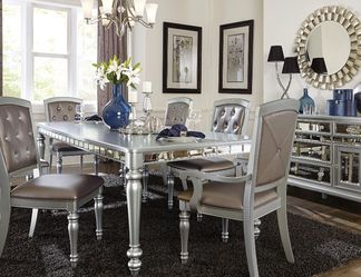 Orsina Silver Mirrored Extendable Dining Set by Homelegance for Sale in Arlington,  VA