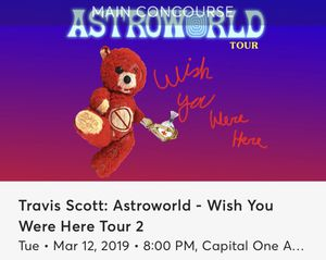 Travis Scott Ticket for Sale in Fairfax, VA