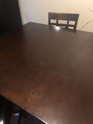 Gently Used High Table with 4 Leather Seated Chairs /Dresser for Sale!! for Sale in Murfreesboro, TN