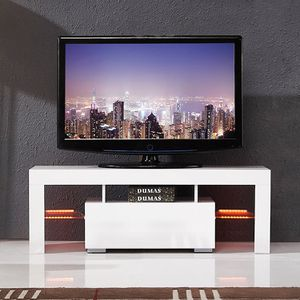 New White TV Stand Media Console Cabinet for Sale in Hacienda Heights, CA