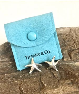 Tiffany & Co Elsa Peretti Darling Sterling Silver Star Fish Earrings and Pouch retail 400 Please ask any questions 100% authentic or your money back for Sale in Redlands, CA