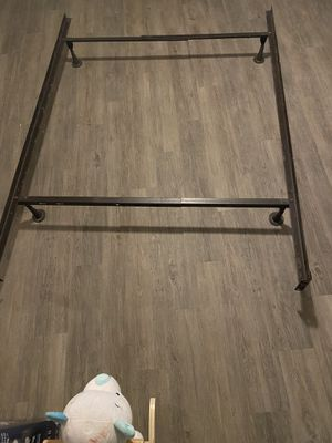 Metal bed frame for full/queen for Sale in Durham, NC