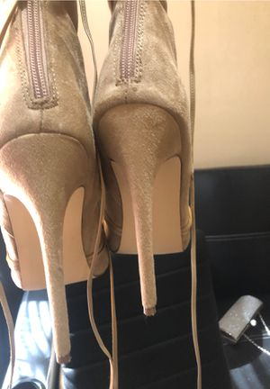 Tan Suede Heel Thigh Boots for Sale in Baltimore, MD
