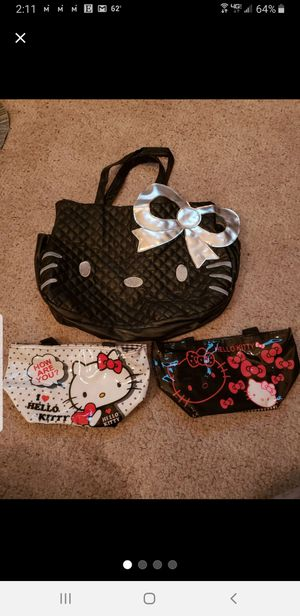 Hello Kitty Lot/kit Shirts, Purse, Makeup Bags for Sale in Albuquerque, NM