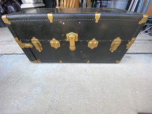 Vintage Black Steamer Trunk for Sale in San Antonio, TX