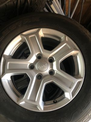 17 inch stock jeep wheels for Sale in McClellan Park, CA