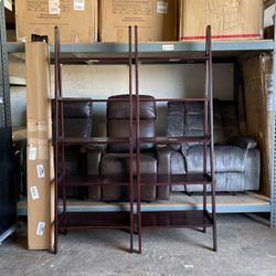 72 in. Espresso Wood 5-shelf Ladder Bookcase with Open Back ($55 Each) for Sale in Phoenix,  AZ