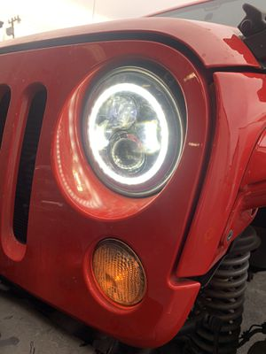 *** NEW Jeep Wrangler LED w/ Ring Headlights Headlamps NEW *** for Sale in Salinas, CA