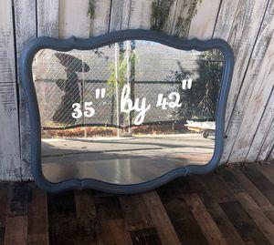 Farmhouse blue mirror for Sale in Riverside, CA