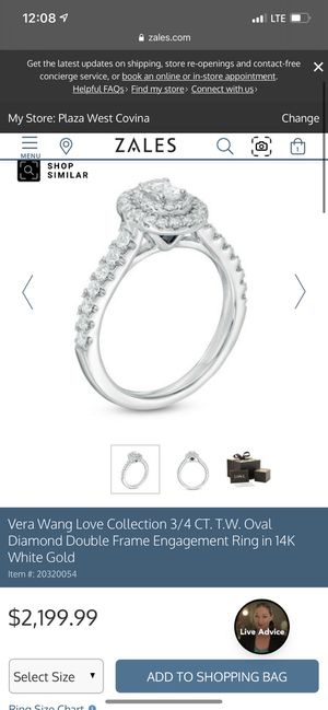 Vera wang wedding/engagement band and ring for Sale in Ontario, CA