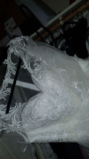 Long White Wedding Dress for Sale in Washington, DC
