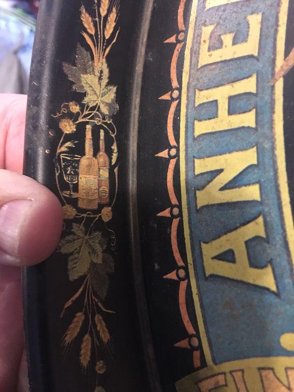 Collectors Vintage tin tray Busch