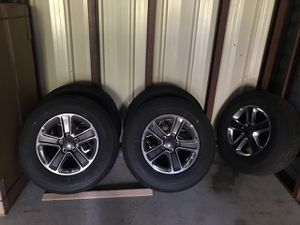 2019 jeep wrangler Sahara tires and rims with all original sensors for Sale in Stoughton, MA